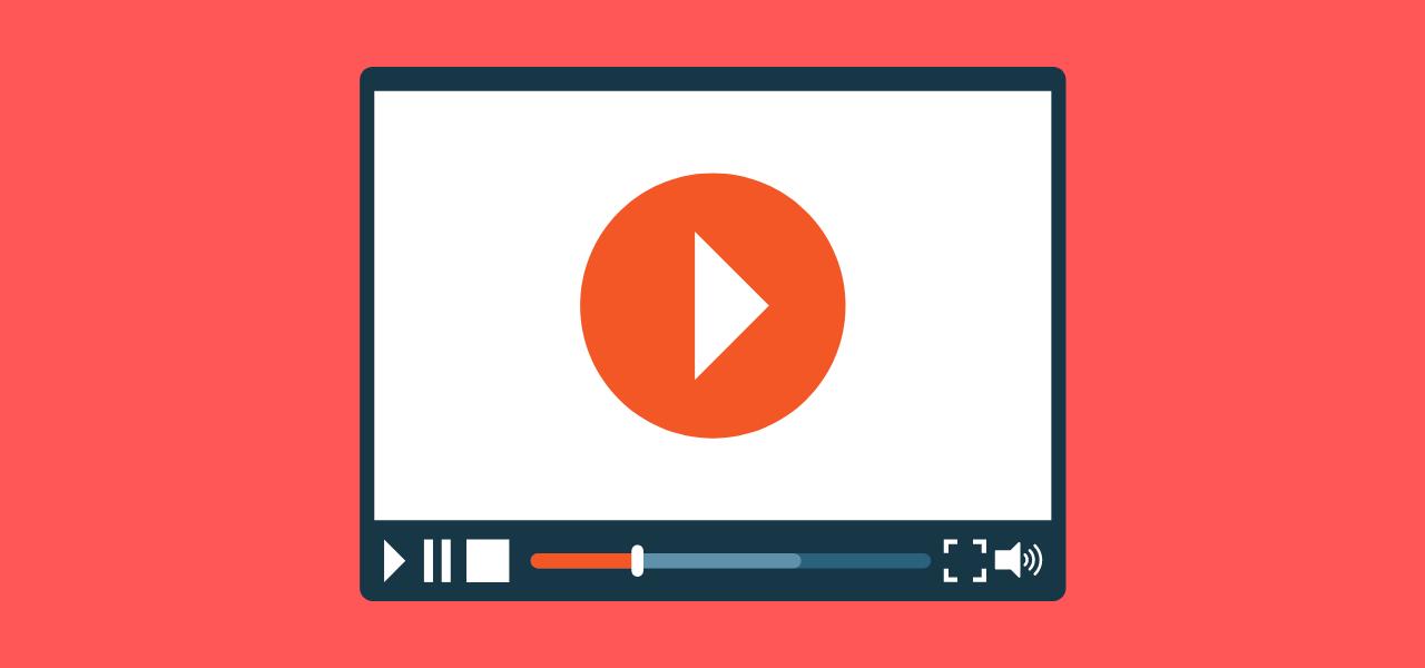 Video med avspillingsknapp